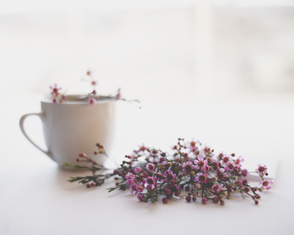tea cup and lavender
